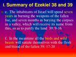 i summary of ezekiel 38 and 392