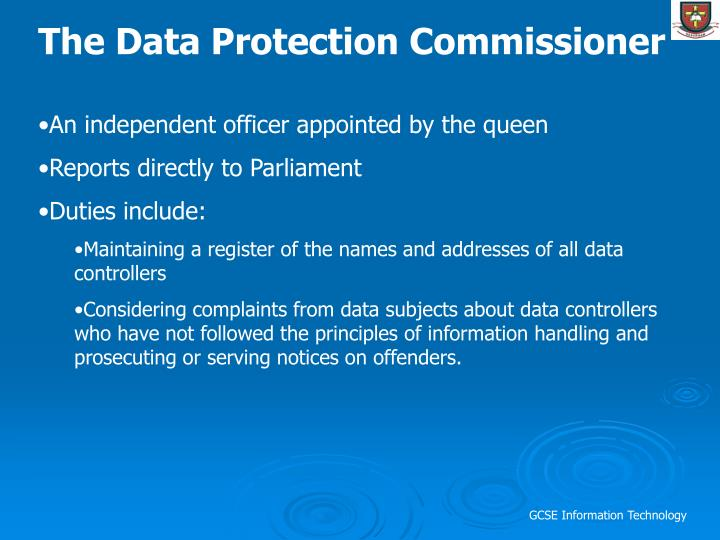 The Data Protection Commissioner