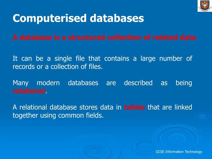 Computerised databases