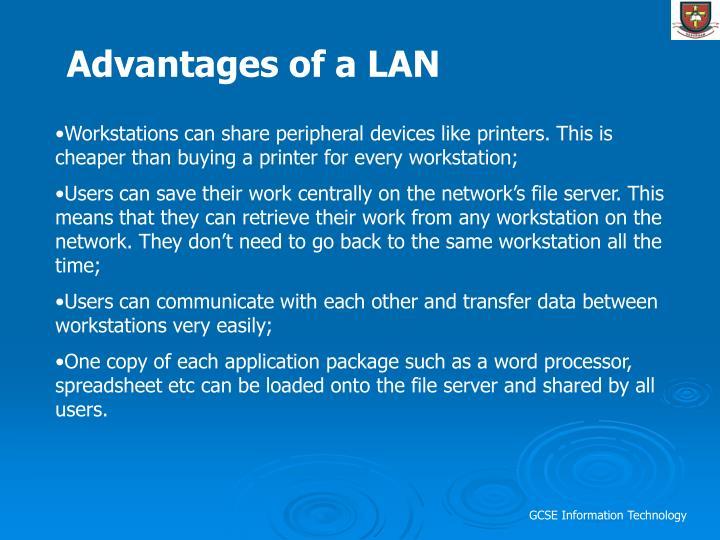 Advantages of a LAN