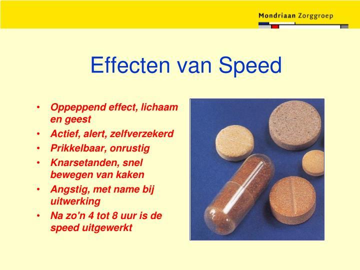 Effecten van Speed