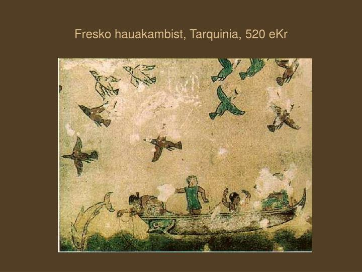 Fresko hauakambist, Tarquinia,