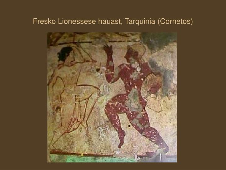 Fresko Lionessese hauast, Tarquinia (Cornetos)