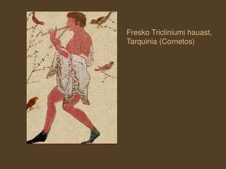 Fresko Tricliniumi hauast, Tarquinia (Cornetos)