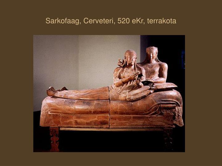 Sarkofaag, Cerveteri, 520 eKr, terrakota
