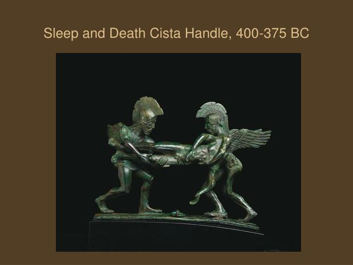 Sleep and Death Cista Handle, 400-375 BC