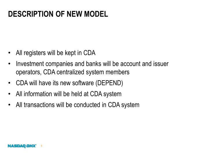 Description of new model