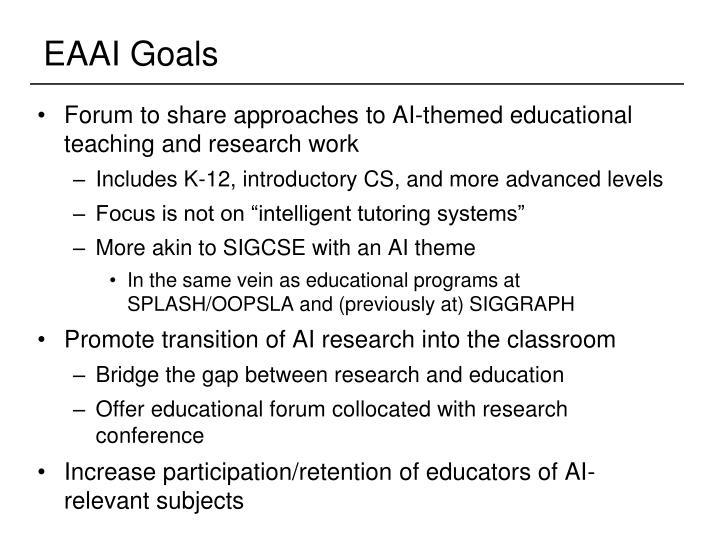 EAAI Goals