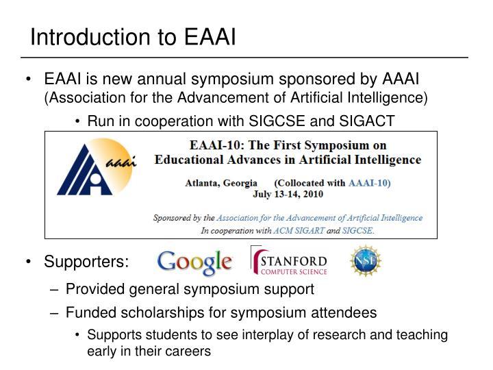 Introduction to EAAI