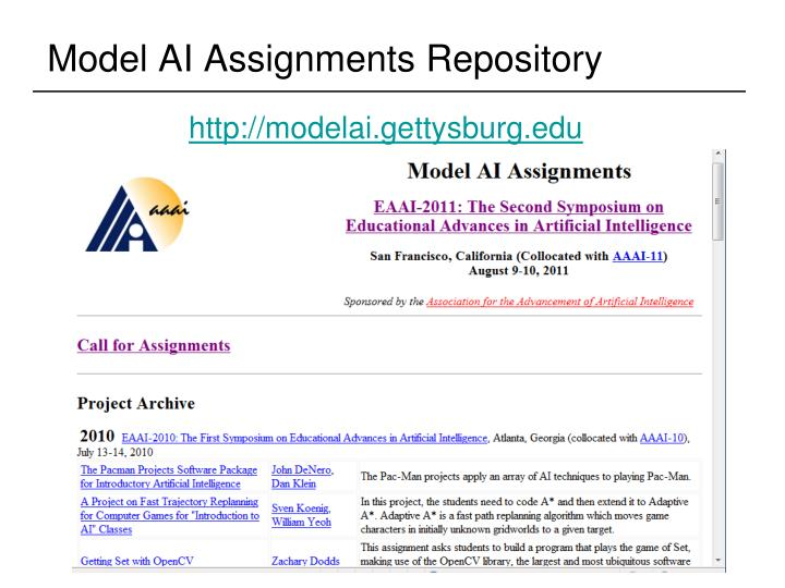 Model AI Assignments Repository