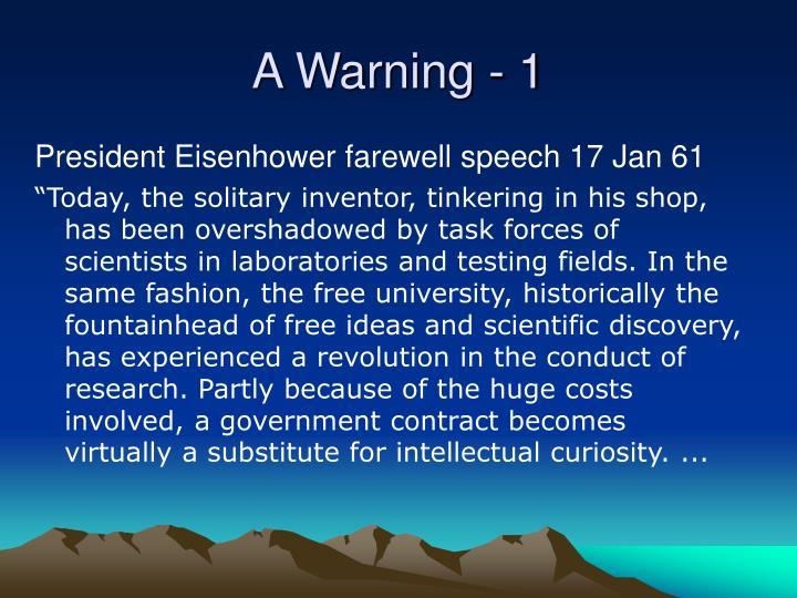 A Warning - 1