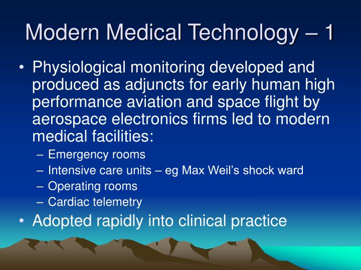 Modern Medical Technology – 1