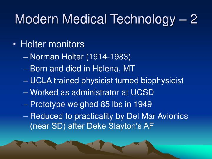 Modern Medical Technology – 2