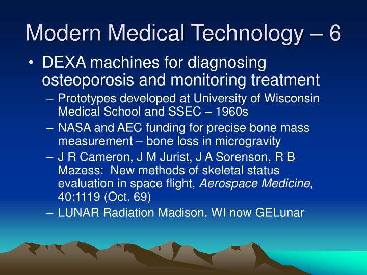 Modern Medical Technology – 6