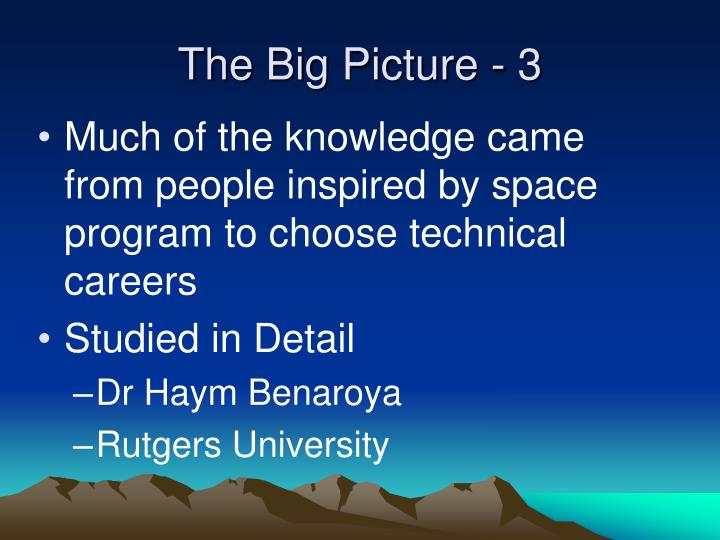 The Big Picture - 3