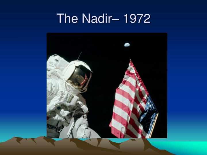 The Nadir– 1972