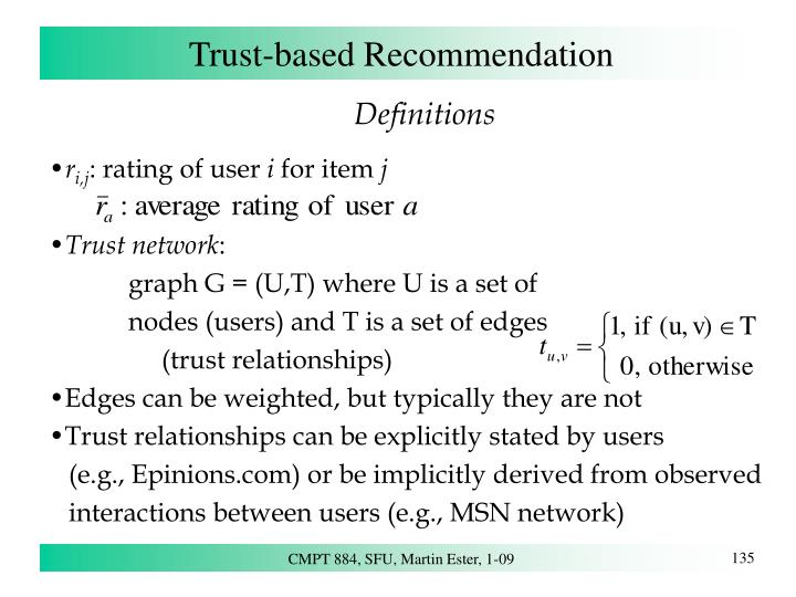 Trust-based Recommendation
