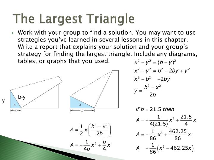 The Largest Triangle