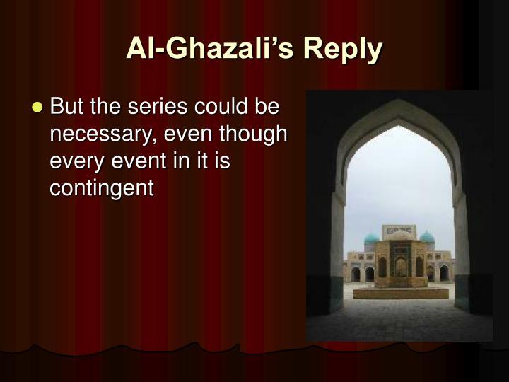 Al-Ghazali's Reply