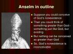 anselm in outline