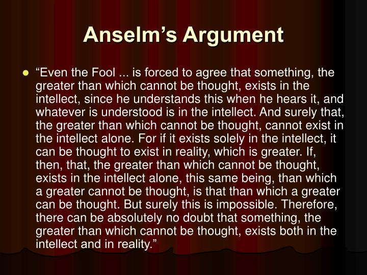 Anselm's Argument