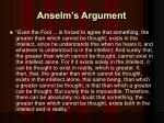 anselm s argument