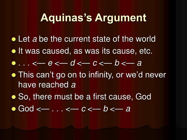 Aquinas's Argument