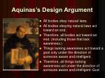aquinas s design argument