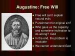 augustine free will