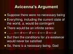 avicenna s argument1