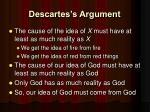 descartes s argument