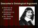descartes s ontological argument