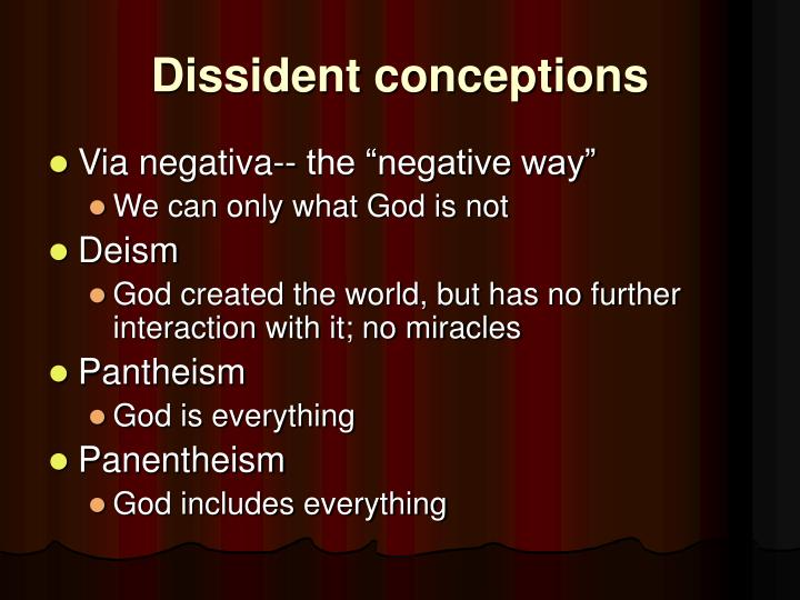 Dissident conceptions
