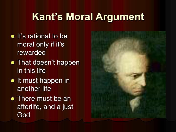 Kant's Moral Argument