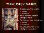 william paley 1743 1805