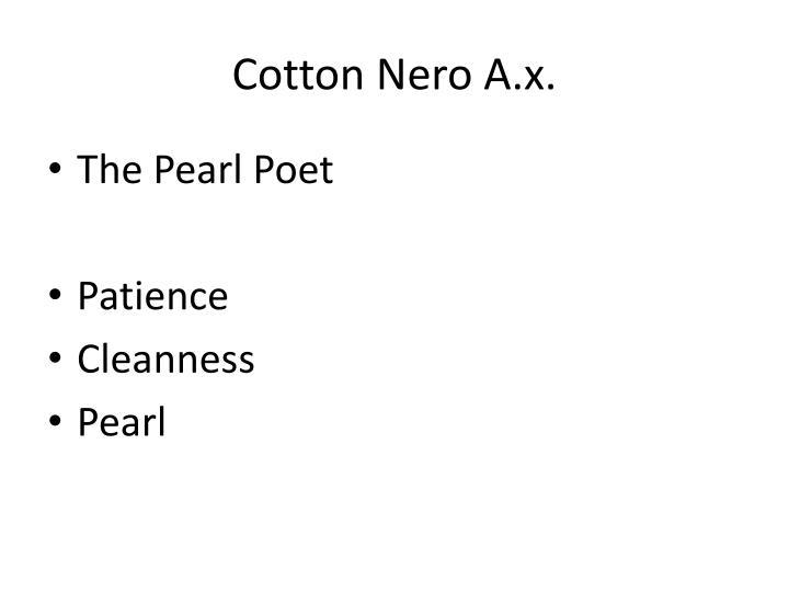 Cotton Nero A.x.
