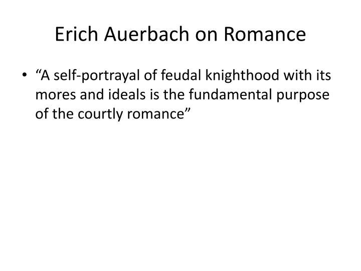 Erich Auerbach on Romance