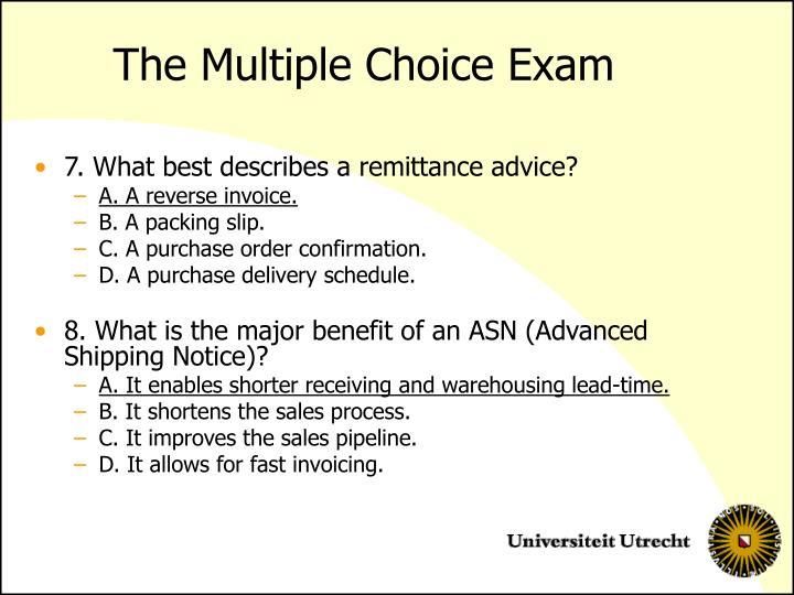 multiple choice final