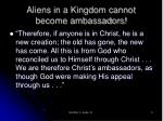 aliens in a kingdom cannot become ambassadors