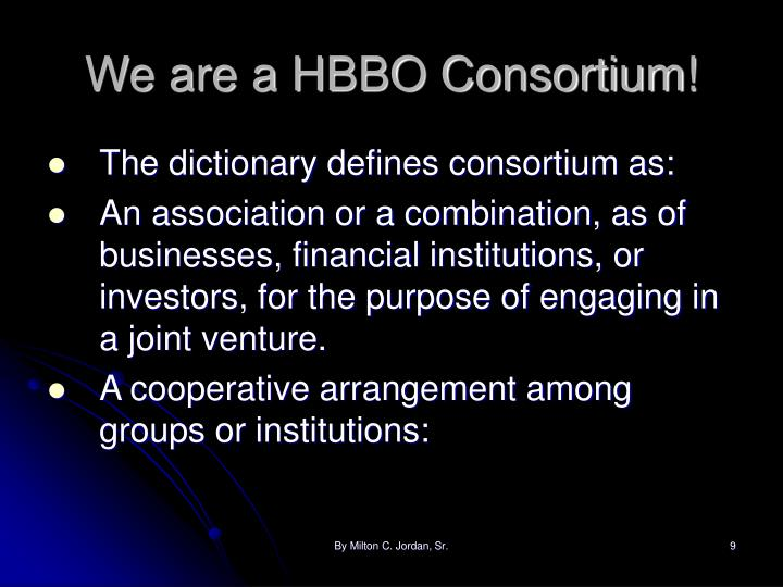 We are a HBBO Consortium!
