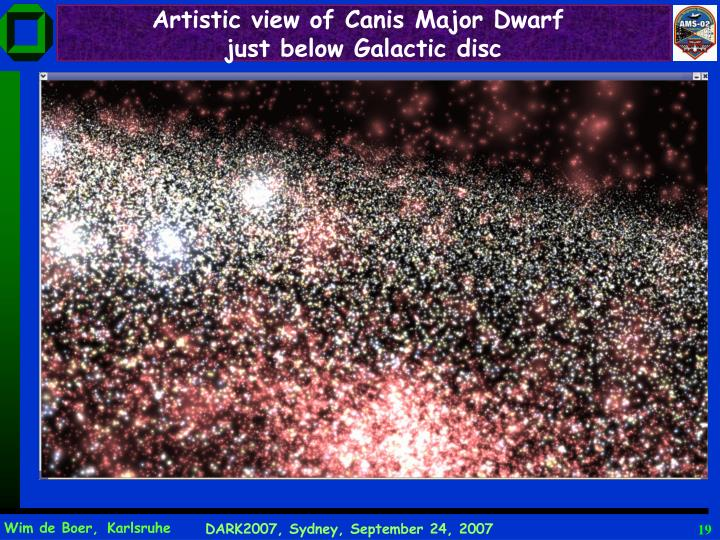 Artistic view of Canis Major Dwarf