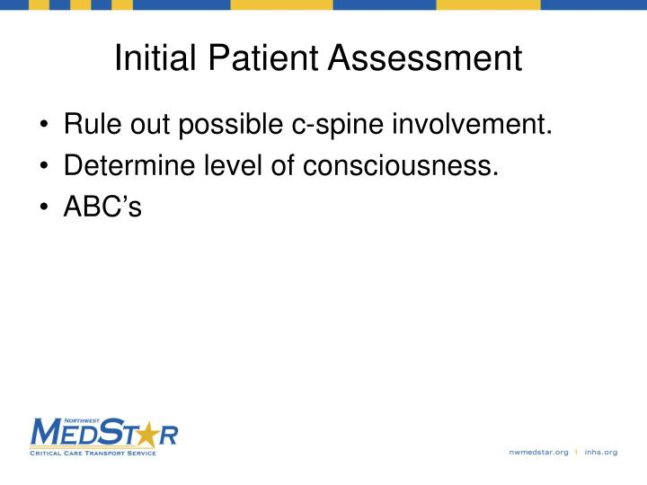 Initial Patient Assessment