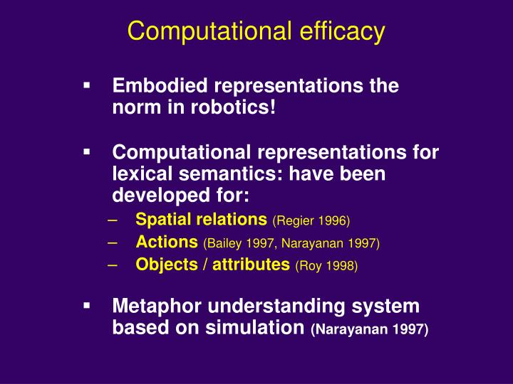 Computational efficacy