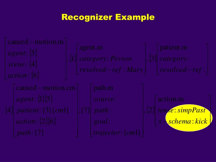 Recognizer Example