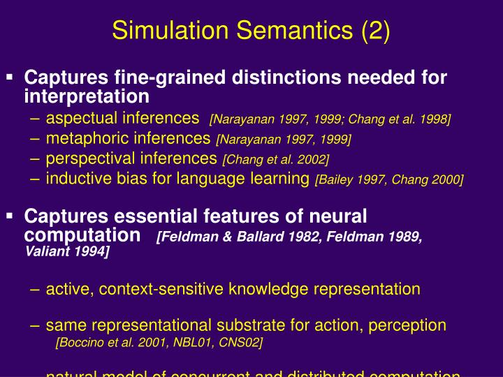 Simulation Semantics (2)