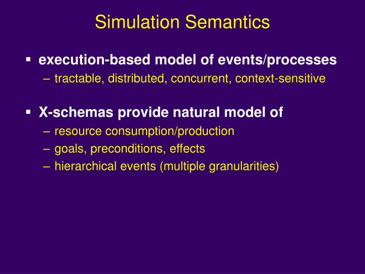Simulation Semantics