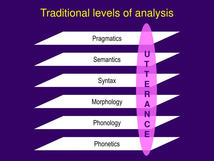 Traditional levels of analysis