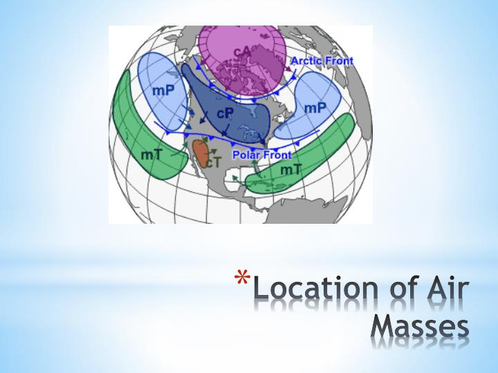 Location of Air Masses