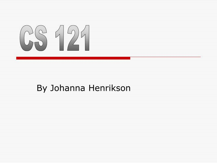 CS 121