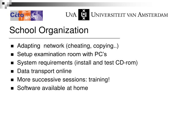 School Organization